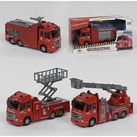 Інерційна пожежна машинка Play Smart 6688: розмір 16см (світло + звук)