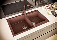 Кухонная мойка гранитная Stella Florina коричневый