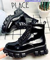 Ботинки женские,ЭкоКожа-Глянец Цвет - Черный ,Деми р36-40 (5200-00)