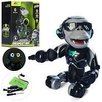 Животное обезьянка 26см, аккумуляторная, музыка, свет, Bluetooth-колонка, USB, Q2