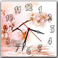 Розовые настенные часы на кухню ReD Вишневый цвет, 30х30 см