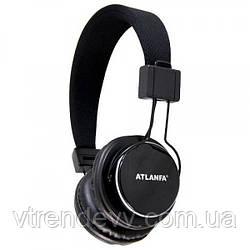 Наушники беспроводные Atlanfa AT-7612 FM Original черные