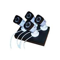 Комплект DVR видеорегистратор 4-канальный и 4 камеры UKC CAD D001 KIT NEW