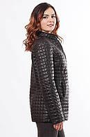 Демисезонная женская  куртка-пиджак чёрного цвета больших размеров с 48 по 68 размер
