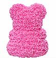 Маленький ведмедик із штучних 3D троянд Teddy Bear de Luxe 25 см Pink, Світло рожевий ведмідь Тедді, фото 3