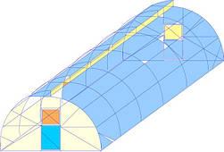 Арочный миттлайдер ширина 4 метра тр оц 30х30