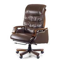 Кресло офисное кожаное АКЛАС Сфинкс EX RL коричневое, фото 1