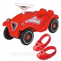 Детская машинка каталка Bobby Car Classic толокар BIG 1303 + накладки на обувь (дитячий автомобіль)