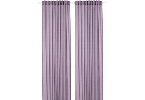 ХИЛЬ Гардины, фиолетовые, 50425020, ИКЕА, IKEA, HILJA