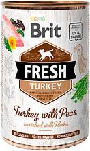 Brit Fresh Dog с индейкой и горошком для собак влажный корм 400г
