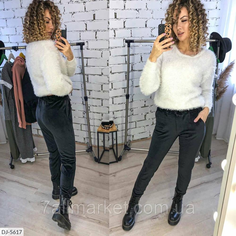 """Штани жіночі велюрові мод. 201 (42, 44, 46, 48) """"VALENTINA"""" недорого від прямого постачальника"""