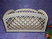 Декоративный деревянный ящик-кашпо, коробка для цветов и подарков 18×14×8,5см
