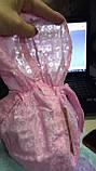 Косынка  розовая из батиста с козырьком  для девочек, фото 2