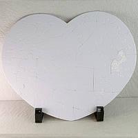 Пазл сублимационный СЕРДЦЕ картонный 24,5*19.5см