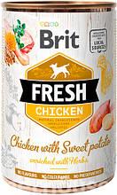 Brit Fresh Dog с курицей и бататом для собак влажный корм 400г