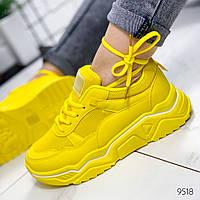 Женские стильные кроссовки  желтые, фото 1