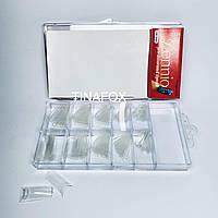 Типсы для наращивания ногтей прозрачные, 100шт