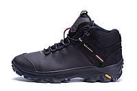 Мужские зимние кожаные ботинки  Е-series biom Brown  (реплика), фото 1