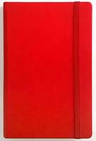 Записна книжка А5 кремовий блок в лінію. Обкладинка штучна шкіра, червона на гумці 234/1 0620