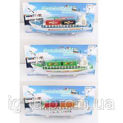 Лодка 1006-07-24 (96шт) корабль 30см, инер-й, 3вида, на листе, 36-16-7,5см