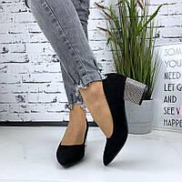 Туфли женские на устойчивом каблуке, фото 1
