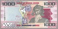 Банкнота Сьерра-Леоне 1000 леонес 2010г ПРЕСС, фото 1
