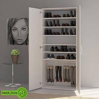 Шкаф распашной с полками для одежды и обуви из ДСП (4 ЦВЕТА) 800х1780х390 мм Возможны Ваши размеры, фото 1