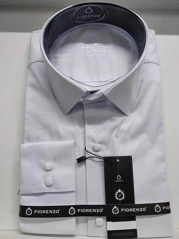 Рубашка однотонная на кнопке, фото 2