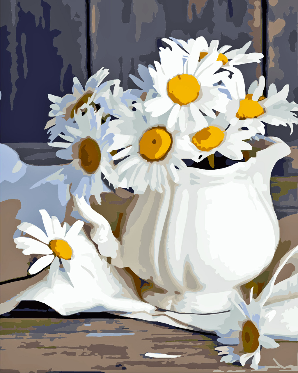 Художественный творческий набор, картина по номерам Ромашки, 40x50 см, «Art Story» (AS0249)