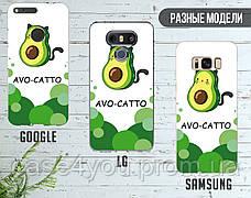 Силиконовый чехол для Apple Iphone X Авокадо (Avo-cat) (4021-3442), фото 3