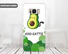 Силиконовый чехол для Apple Iphone X Авокадо (Avo-cat) (4021-3442), фото 2