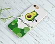 Силиконовый чехол для Apple Iphone X Авокадо (Avo-cat) (4021-3442), фото 5