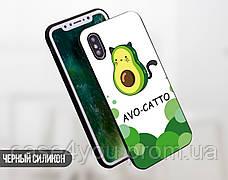Силиконовый чехол для Apple Iphone XS Авокадо (Avo-cat) (4026-3442), фото 3