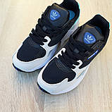 Кросівки жіночі Adidas Falcon чорні з бірюзою, фото 4