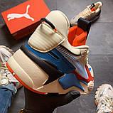 Кросівки Puma жіночі Rs-x Reinvention Cream Red Blue, фото 2