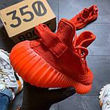 Кроссовки женские Adidas Yeezy Boost 350 Red., фото 3