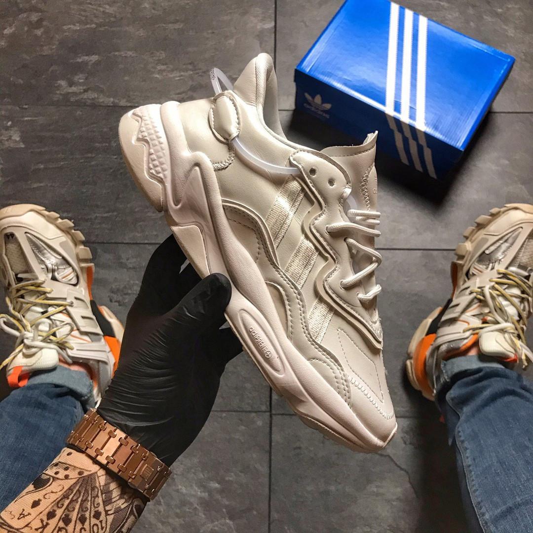 Кроссовки женские   Adidas Ozweego Triple White