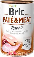 Brit Pate & Meat Dog с кроликом влажный корм для собак 400г