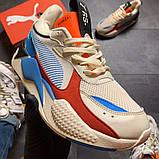 Кроссовки мужские  Puma Rs-x Reinvention Cream Red Blue, фото 3