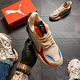 Кроссовки мужские  Puma Rs-x Reinvention Cream Red Blue, фото 4