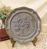 Старая оловянная тарелка, Олово, Германия, из старых, фото 1