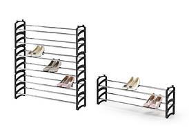 Стеллаж раздвижной для обуви ST1 черный (62:115х18х33) Halmar