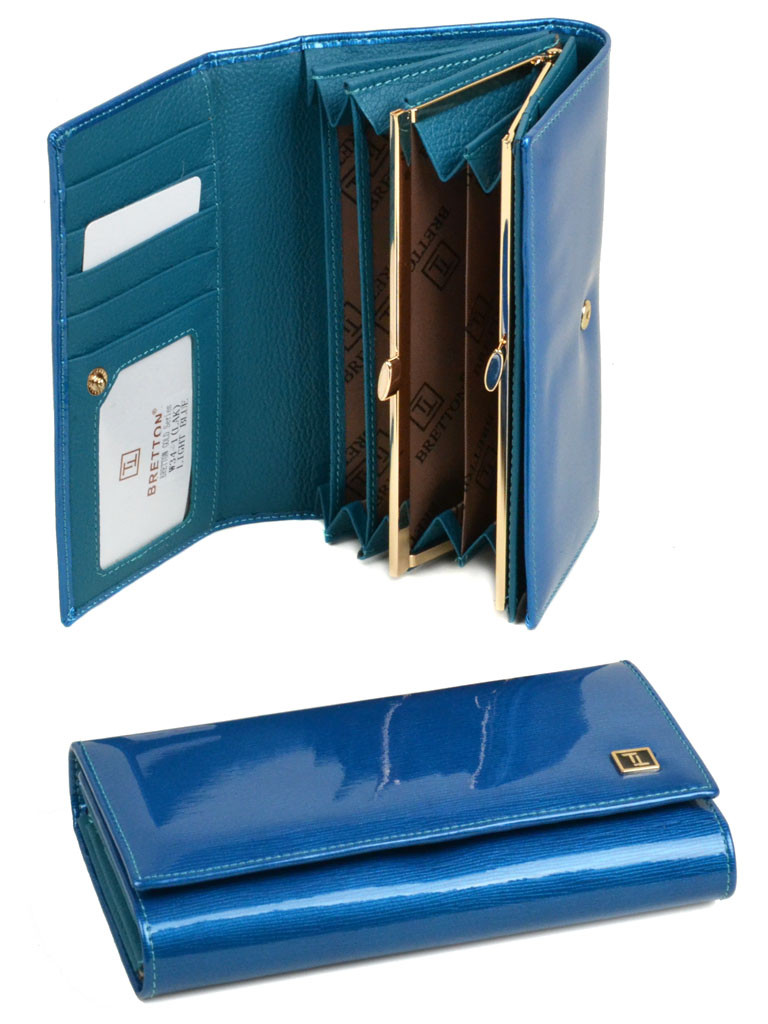 PODIUM Кошелек GOLD кожа BRETTON W34-1 l-blue Распродажа