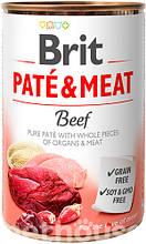 Brit Pate & Meat Dog с говядиной  влажный корм для собак 400г