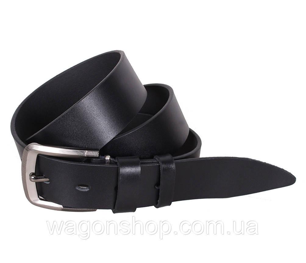 Мужской кожаный ремень Dovhani LL504-199 115-125 см Черный