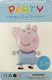 Фольгированный воздушный шар фигура свинка Пеппа  Джордж  70 см  индивидуальная упаковка