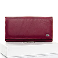 Кошелек женский кожаный красный Classic DR. BOND W46-2 purple-red, фото 1