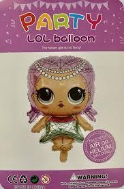 Фольгований повітряна куля фігура лялька Лол 73 см індивідуальна упаковка
