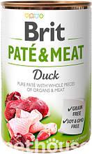 Brit Pate & Meat Dog с уткой  влажный корм для собак 400г