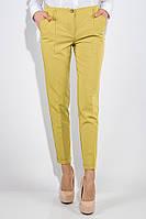 Классические женские брюки горчичного цвета